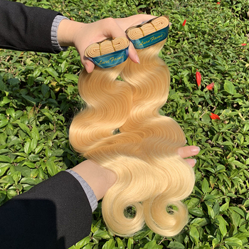 weave blonde 613 Blonde Virgin Hair Vendors Body Wave Perfect Lady Most popular human platinum blonde brazilian hair