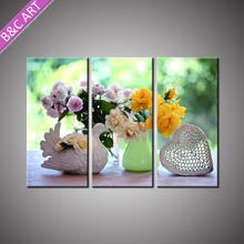 Group Interior Wall Decoration Modern Canvas Art Flower Painting for Living Room