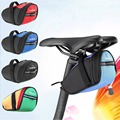 Outdoor Cycling Mountain Bike Bicycle Saddle Bag Back Seat Tail Pouch Package Black Green Blue Red