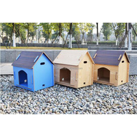 Wholesale lightweight outdoor indoor pet house cheap wooden dog kennel