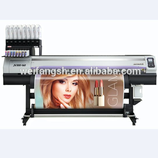 Used High Quality 1610mm Wide Format Eco Solvent Inkjet Printer MIMAKI JV300-160