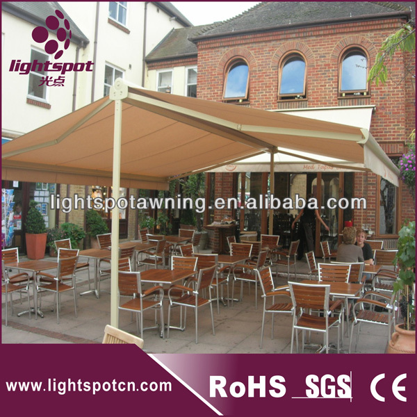 Outdoor Double Canopy Umbrella Freestanding Awning Patio Swings