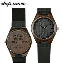 Shifenmei S5520 Dropshipping <span class=keywords><strong>di</strong></span> Marca Personalizzata Handmade Inciso In <span class=keywords><strong>Legno</strong></span> Orologio