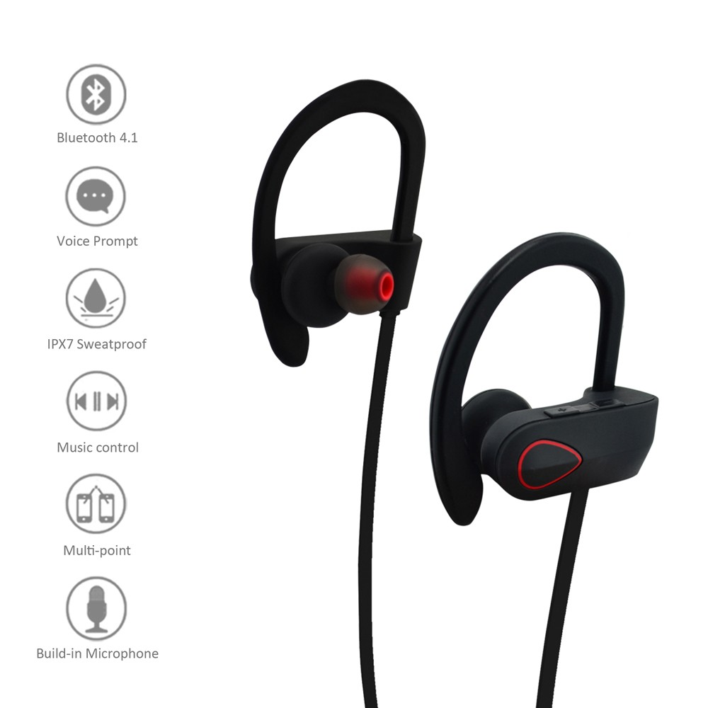 RU9 New arrival In-Ear Style and Microphone ps3 bluetooth headset wireless earphone IPX7 waterproof