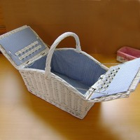 Willow And Wood Chips Laundary Basket