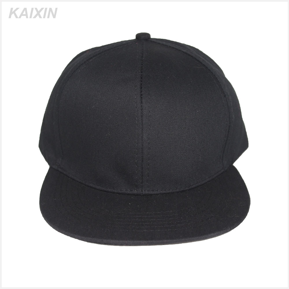 blank 6 panel black snapback cap <strong>hat</strong>