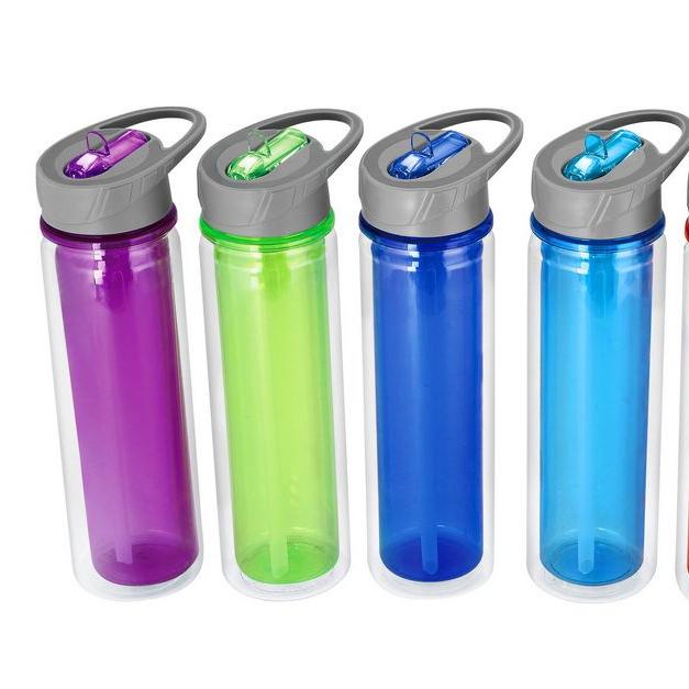 Bebas BPA Dapat Digunakan Kembali Tritan Jelas Air Botol dengan Jerami Plastik Botol Air
