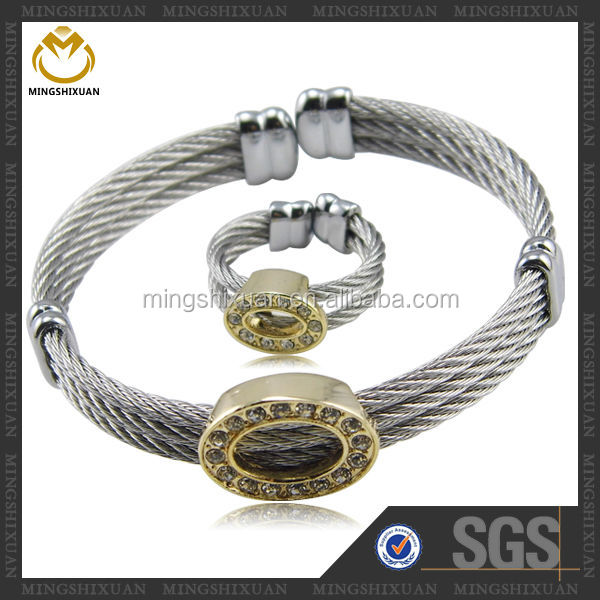 Wholesale new design fashion thin wire bangle set,best selling golf gift