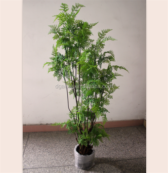 160cm Green Fern Potted Leaf Tree Interior Decoration Bonsai Tree ...