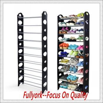 DIY Adjustable Shoe Rack 10 Tier Space Saving Storage Organizer Shoe Tower  Rack Organiser
