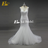 Pleating Sleeveless V-Neck Bead Mermaid Beads Lace Up Lace Appliques Wedding Dress