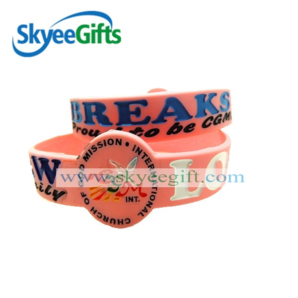 custom Brazilian Football silicone bracelet for fans