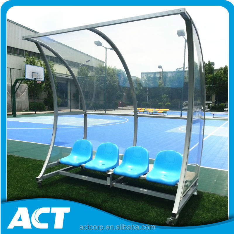 Mobile Sports Seating Bench Soccer Player Team Bench