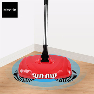 Rotating Hand Push Sweeper 360 Degree Cordless Manual Broom For Floor Cleaning