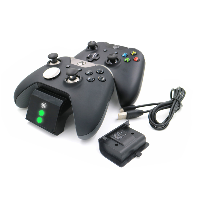 Yccteam Dual Charger Charging Dock For Xbox One Slim/xbox One Elite/ Xbox  One Controller With 2 X 600mah Rechargeable - Buy Dual Charger
