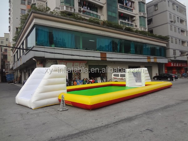 PVC Material and inflatable sports Type big inflatable soap football field