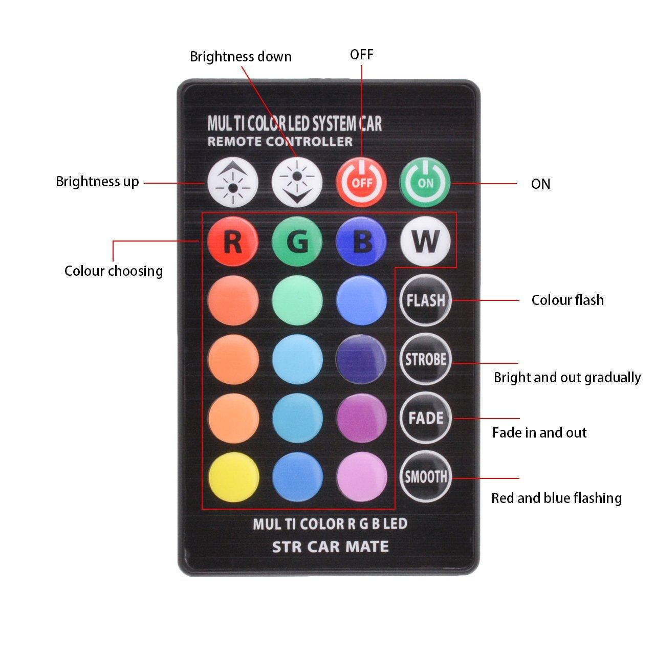 Led t10 Luci Auto Lampadine A LED RGB Con Telecomando di Controllo lampada Da Lettura per auto