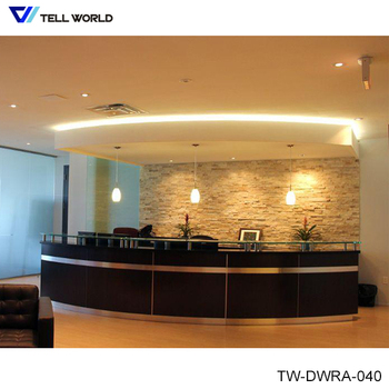 Luxury Reception Desk Office Modern Front Counter Hotel Table Design