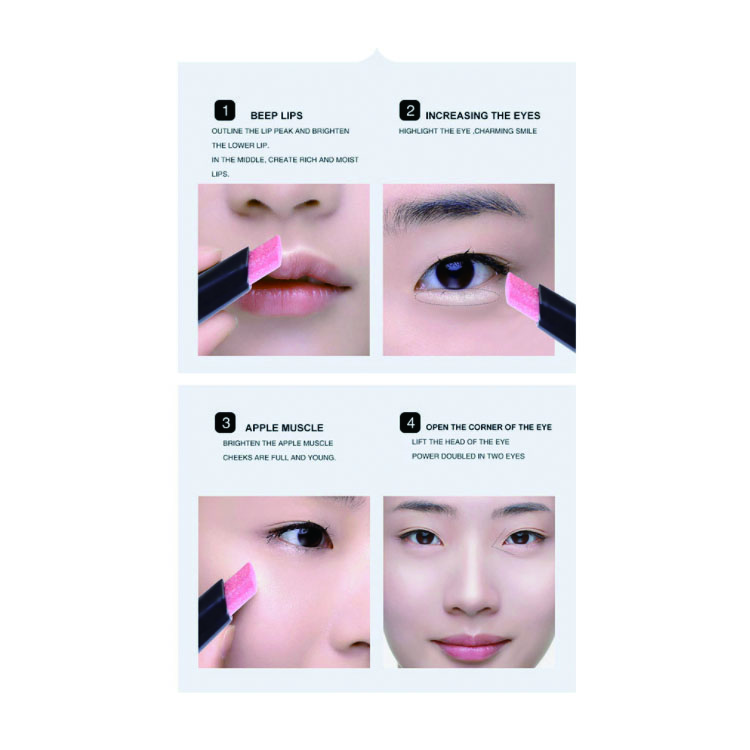 Wholesale private label 3 Colors  Fancy highlighter makeup