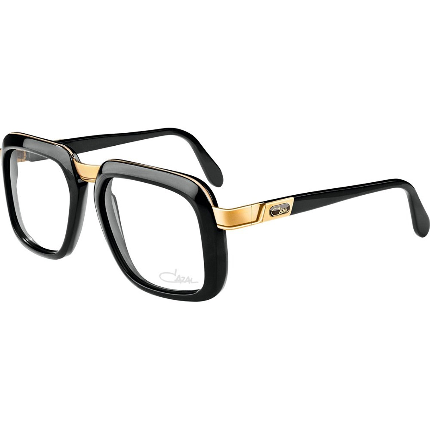 634663df5143 Get Quotations · Cazal 616 Eyeglasses 001 Black Gold Clear Lens 56 mm