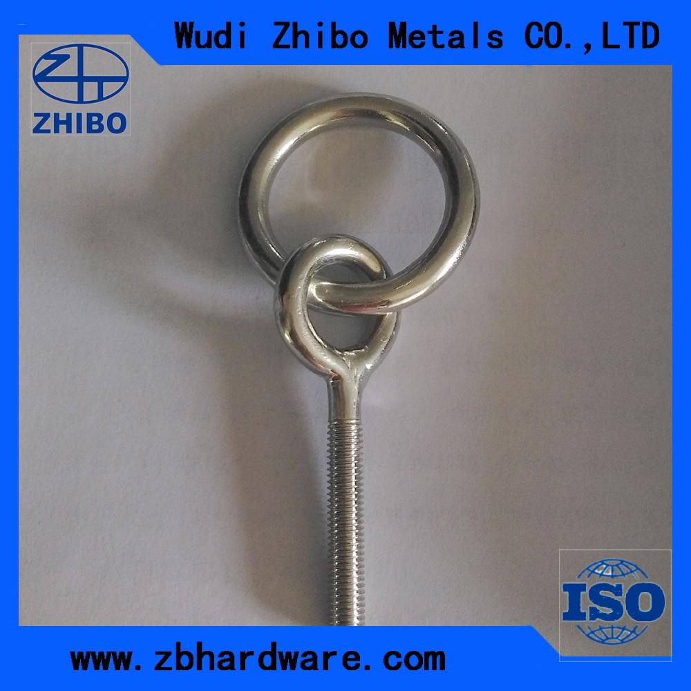 Kekuatan Tinggi Eye Lifting Baut Dan Mur Din580 Din 582 Stainless Nilon M8 Ss 304 Lock Nut Nylon Steel M6