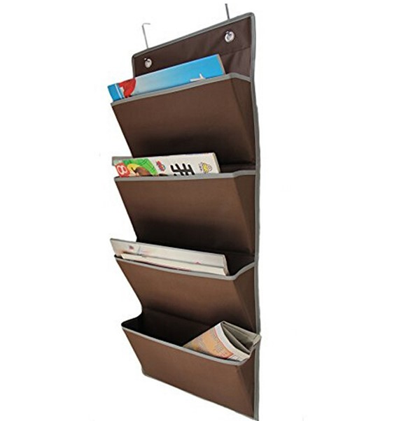 Over the Door Oxford Collapsible File Folder Magazine Storage Hanging Organizer