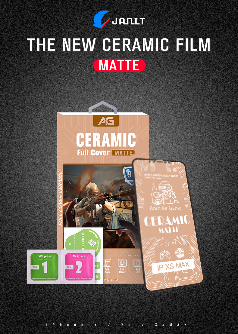 Best Anti glare Glass 9D Full Screen Coverage For iPhone Xs max Matte Nano Screen Protector