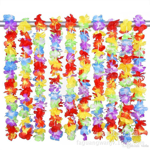 Best selling light up silk hawaiian leis bulk party