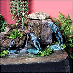 "Leaping Frog Fountain Size: Medium (11.5"" H)"