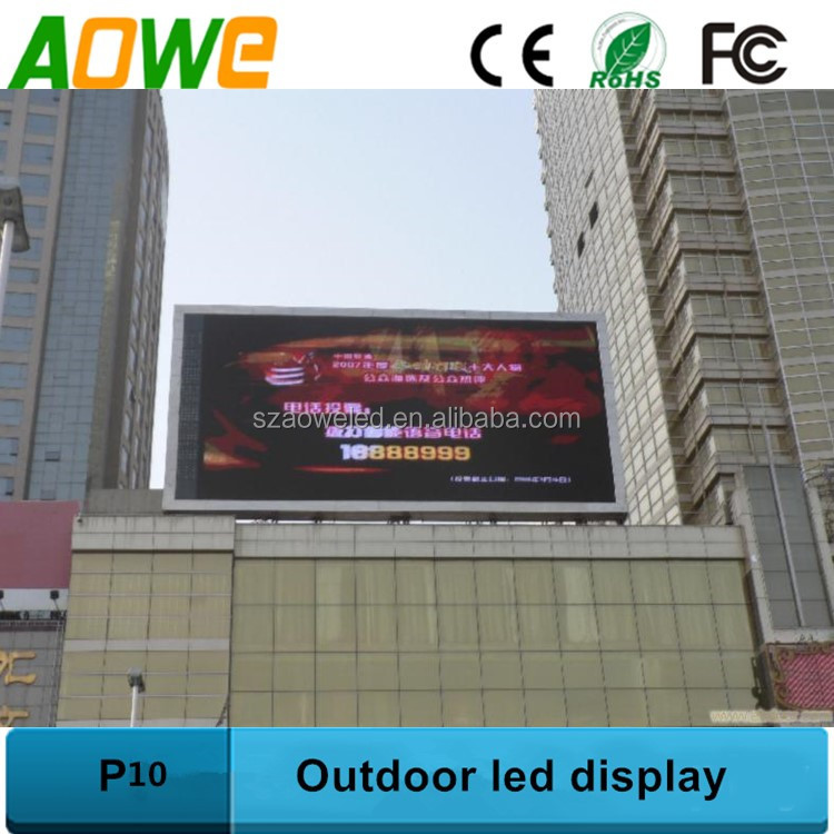 Commercial advertisement effect p10 outdoor digital led billboard sign