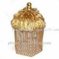 Golden christmas deco design