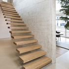 50-100mm thick floating wood stair tread