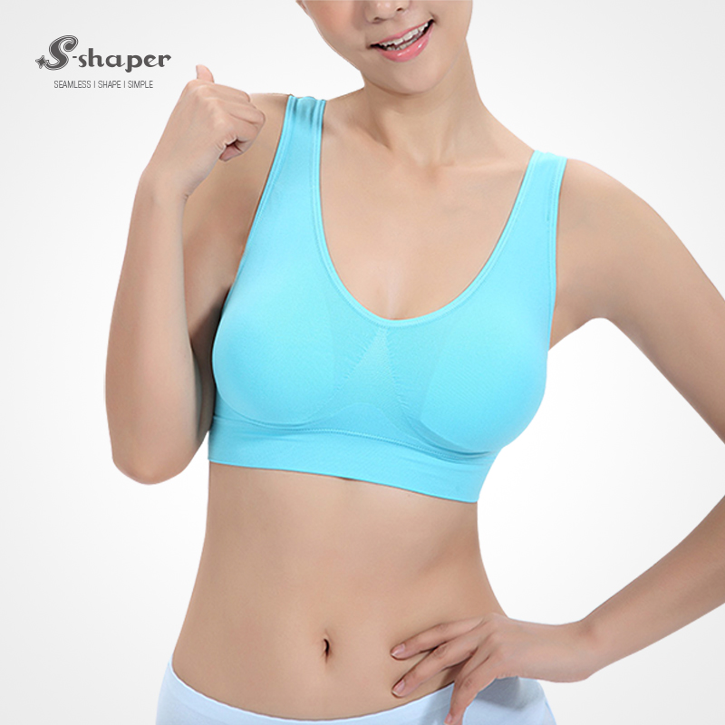 704718478a9 S-SHAPER Ladies Sexy Seamless Workout Gym Fitness Yoga Sports Cotton Bra  Factory in China