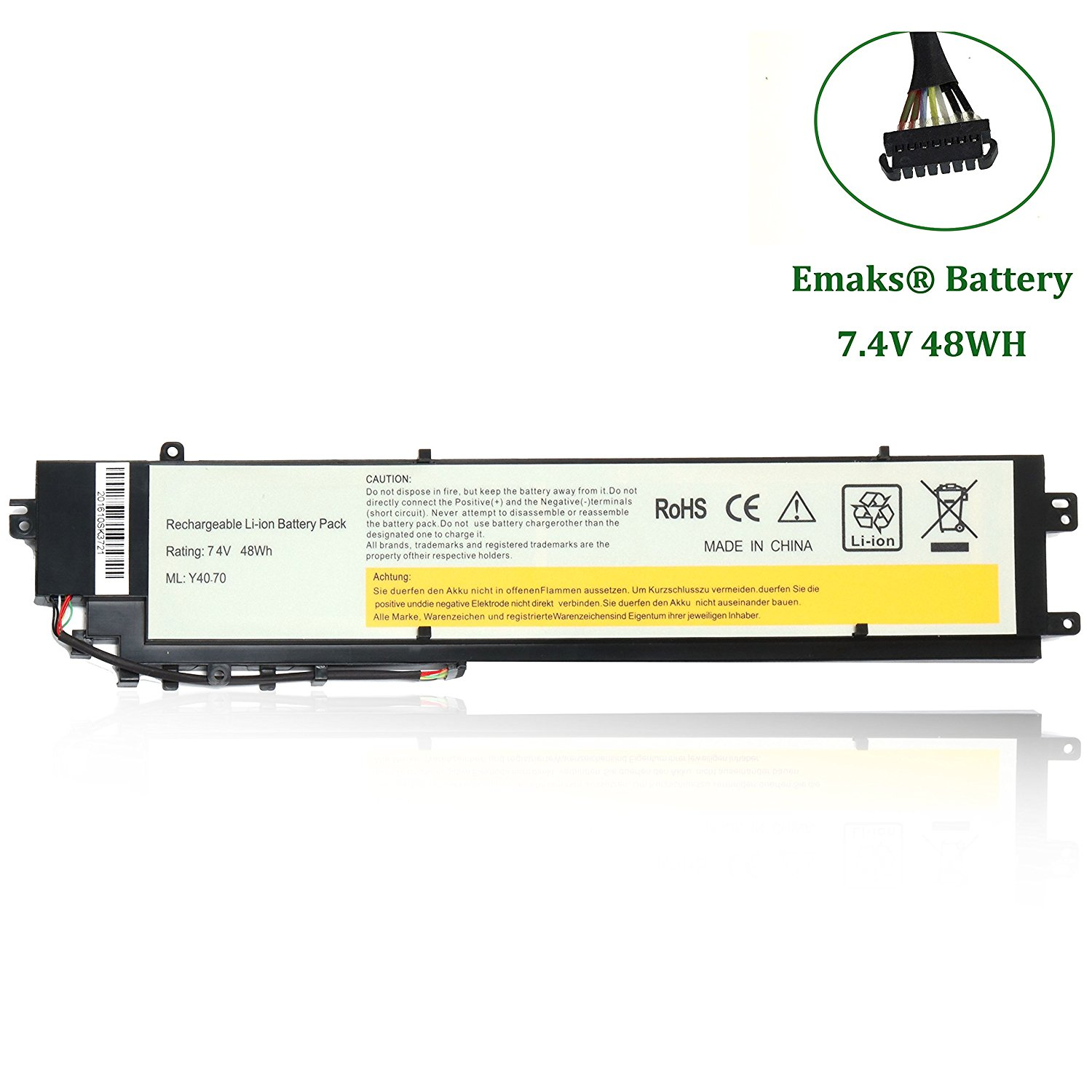 Get Quotations · Emaks L13C4P01 Battery L13L4P01 for Lenovo Erazer Y40 80 Y40 80 IFI Y40