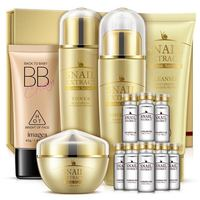 Factory price gold snail skin care set (facial cream, Bb cream, lotion, toner) with factory price