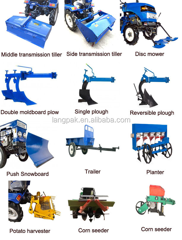 Name Of Parts Farm Implements : Captain mini tractor price with different types farm