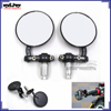 BJ-RM-024 Motorbike Round Side Mirror HandleBar Mirror Motorcycle Foldable Rear View Mirrors