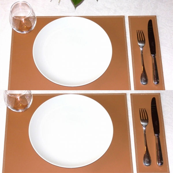 Dining Table Place Settings Mats Restaurant Faux Leather Placemats