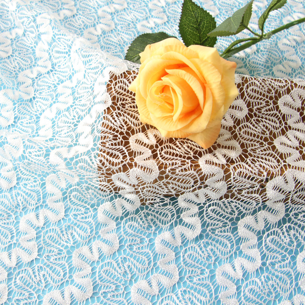 Hot Selling 100 Polyester African Crochet Lace Fabric for Garment