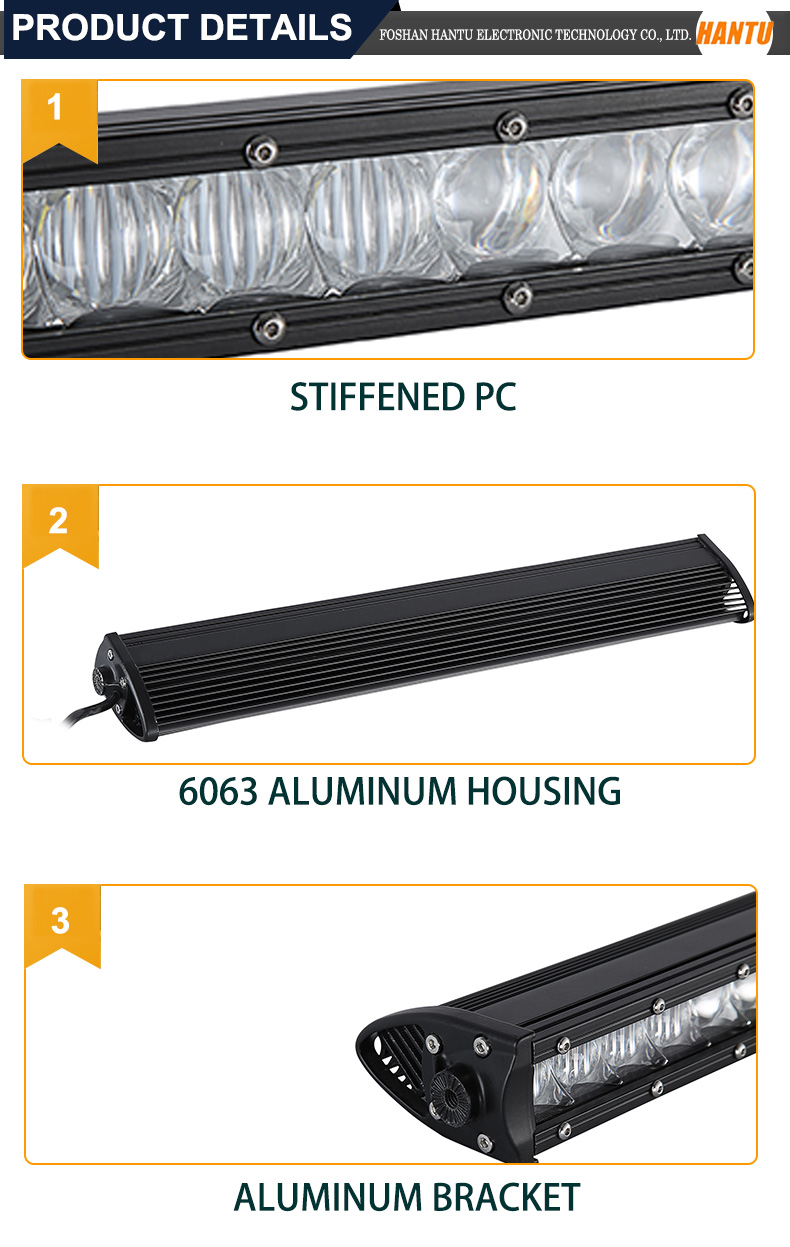37 inch 180w single row led light bar