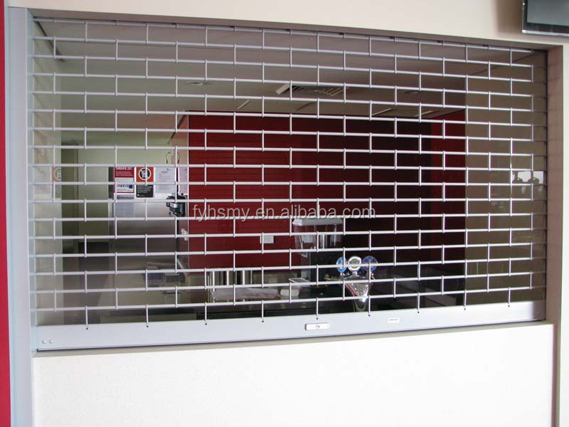 front door designs automatic security stainless steel grille door for house/shop/bank/warehouse