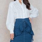 fe5e61a4b2c Denim Latest New Design Fashion Cutting Casual Wear Stylish Sexy Women  Office Ladies Girls Hot Mini