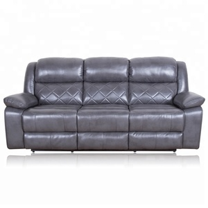 Rotary wagging modern italy leather power recliner sofa