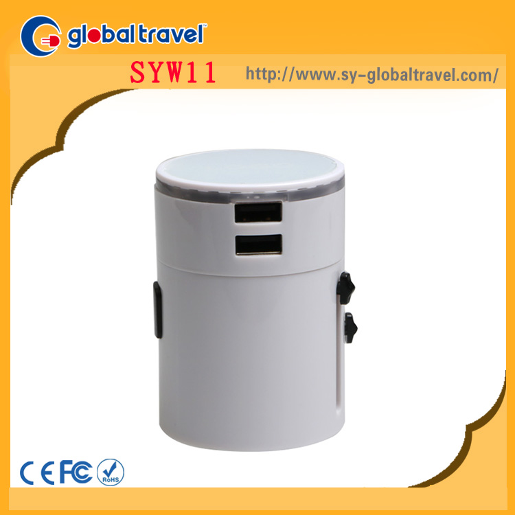 Portable promotional gifts multi universal travel adapter power adapter converter <strong>plug</strong> with usb socket&surge protector