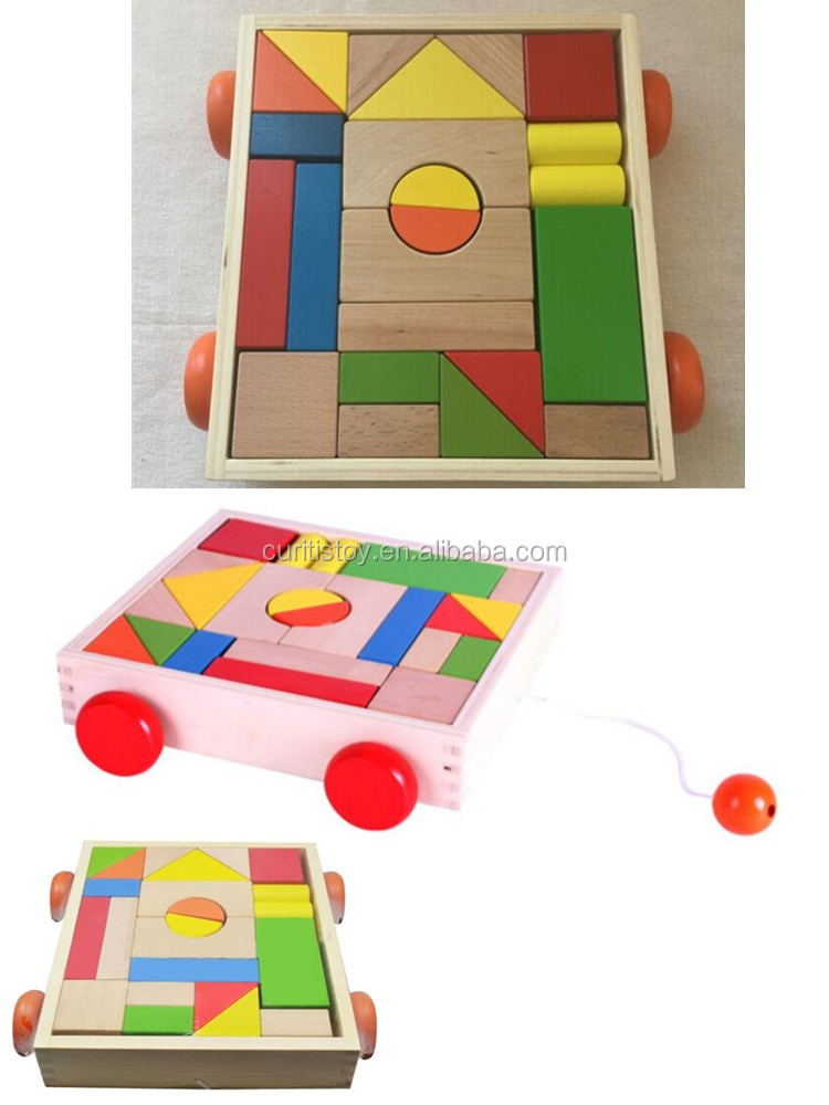 china toys trading companies yunhe wooden toys handmade diy kits 23 pcs building block vehicle child craft wooden blocks toys