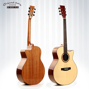 Top solid acoustic guitar China guitar brand oriental cherry factory wholesale W-MAS-41A