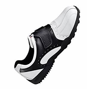 Shangtom416 Golf Shoes Men Golf Shoe 02 Breathable No-Slip Wear Resistance Black US8 EU41 UK7.5