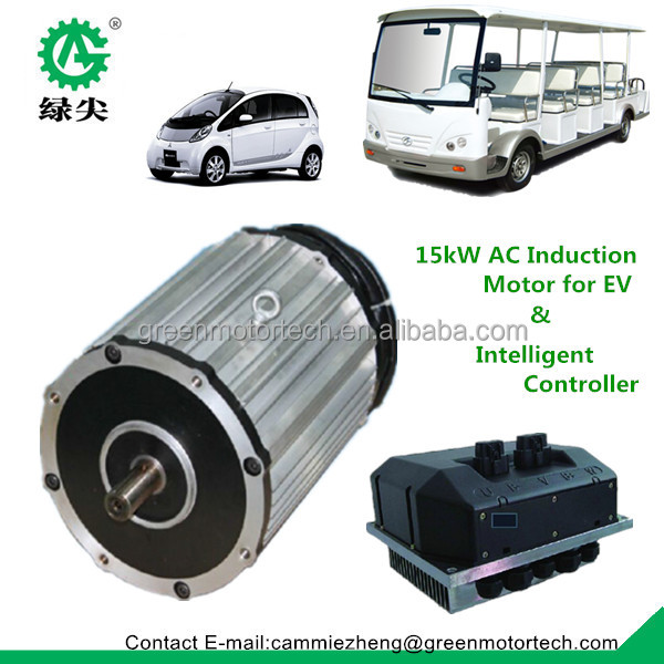 High Speed Electric Car Motor And Controller 25kw Electric Car