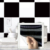 TS014 Self Adhesive Removable Black & White Brick Sticker Plastic Wall Tile