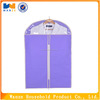 Cheap non woven fabric garment bag purple